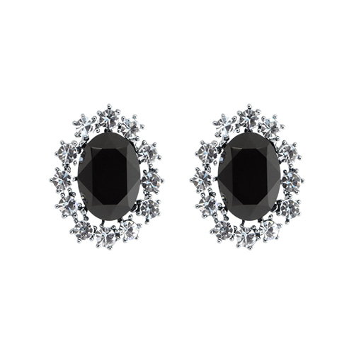 Black Onyx Post Earrings
