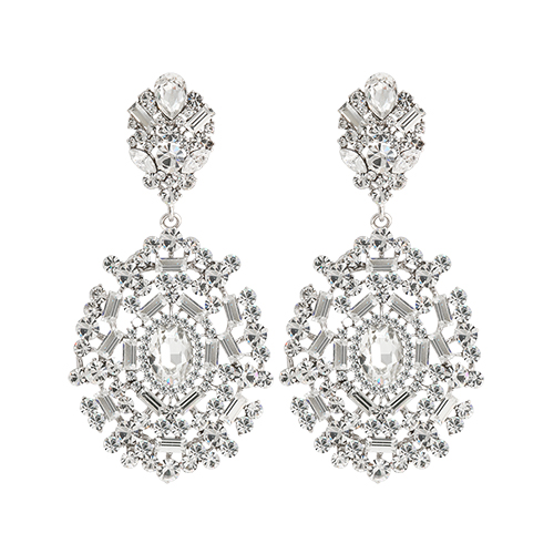 Elegant Crystal Drop Earrings