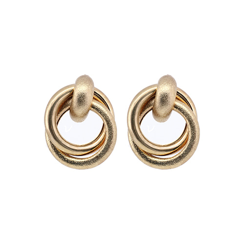 Matt Gold Hoop Twister Earrings