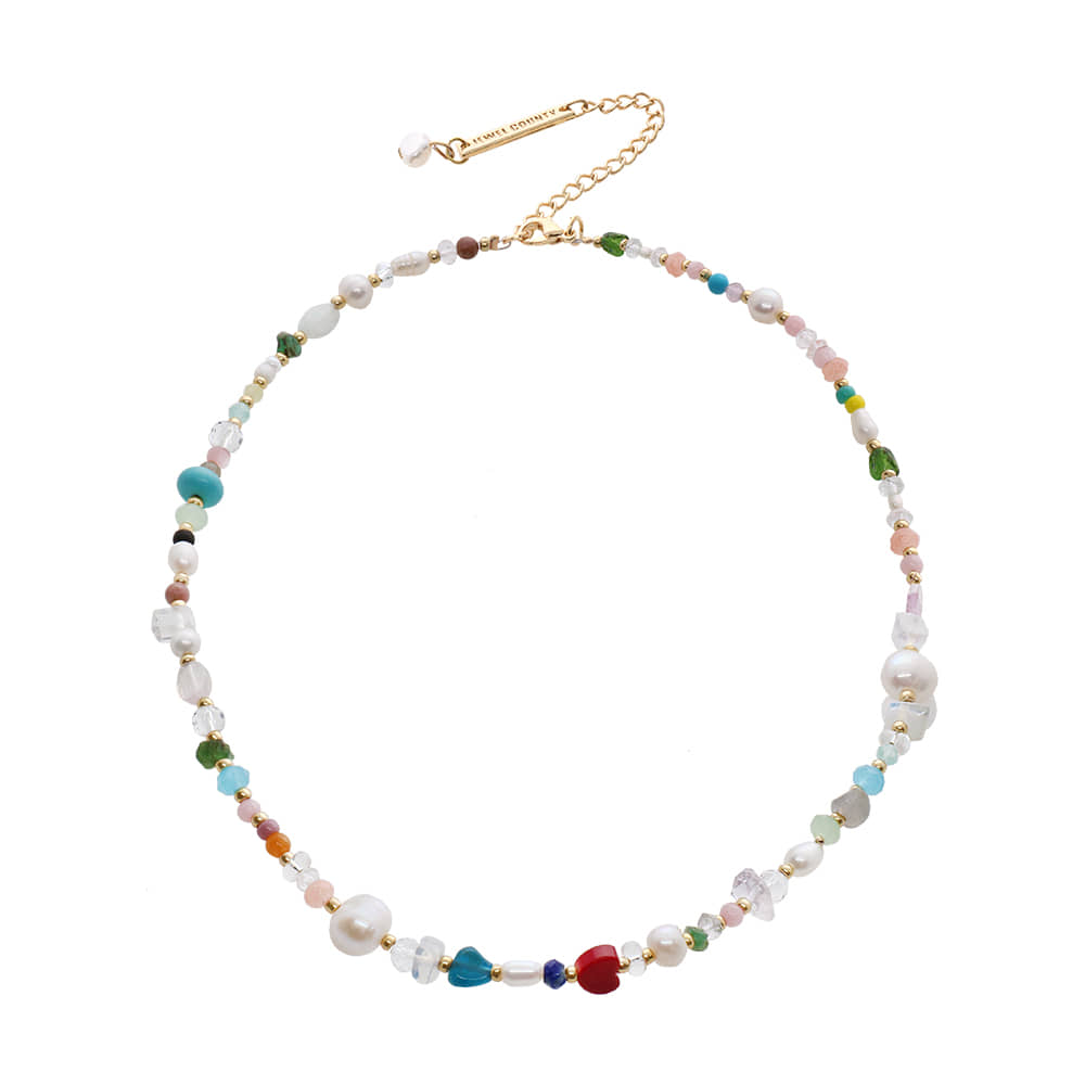 Color Gemstone Chocker Necklace