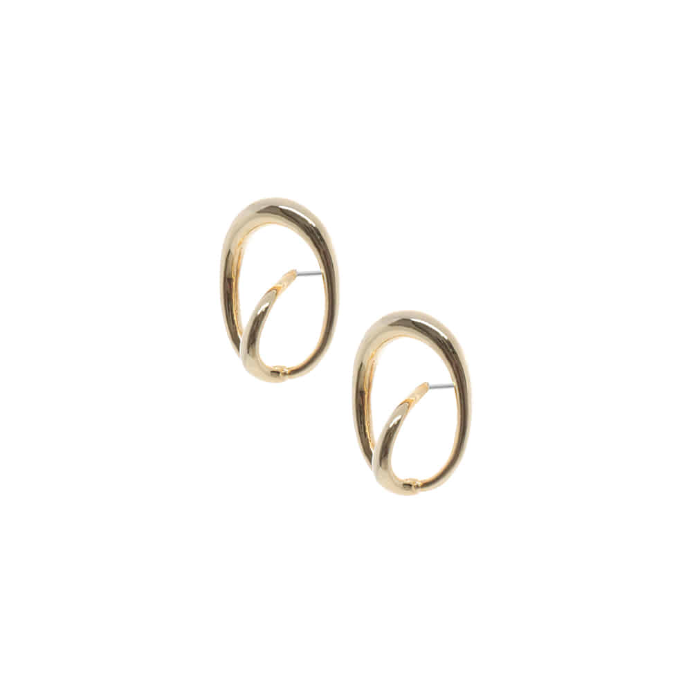 Oval Circle Ring Earrings