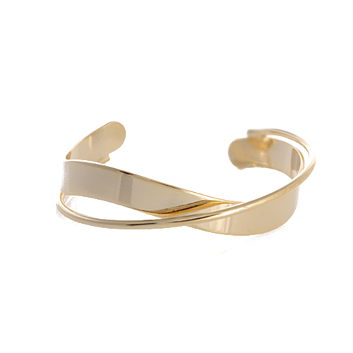 Fit Double Line Open Bangle[GOLD]
