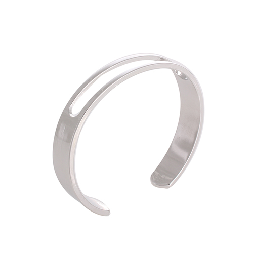 Fit  Line Open Bangle[SILVER]