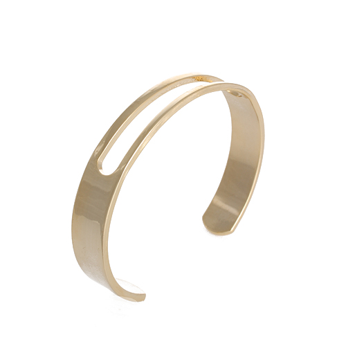 Fit  Line Open Bangle[GOLD]