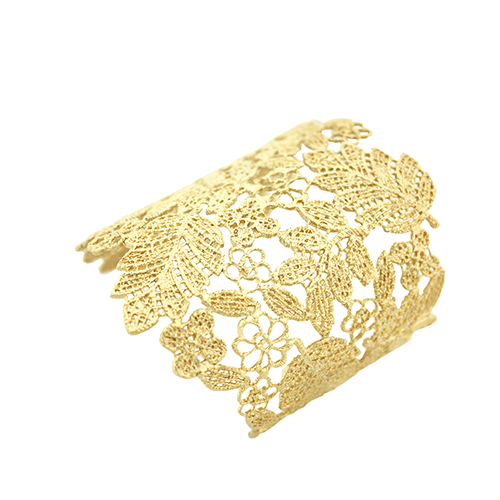 Metal Gold Embroidery Bangle