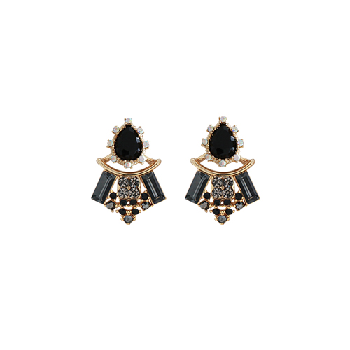 Princess B. Earrings [Black]