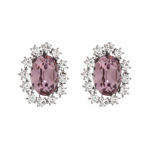 Indipink Crystal Post Earrings