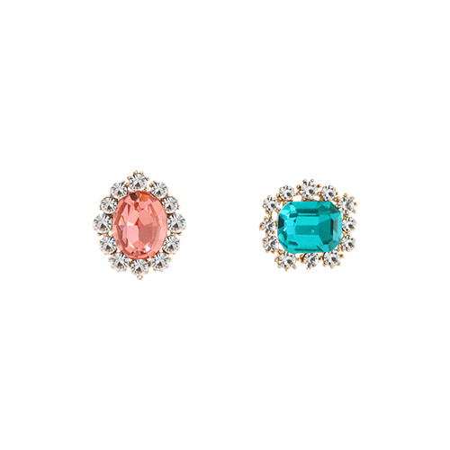 Color Party Crystal Post Earrings