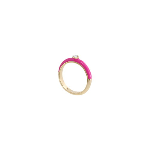 Hotpink Glossy Color Ring