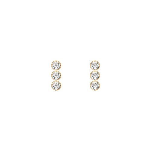 Triple Crystal Stone Post Earrings