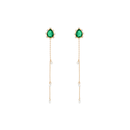 Green Weeping Princess Earrings