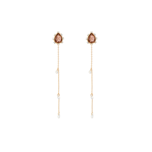 Champagne Weeping Princess Earrings