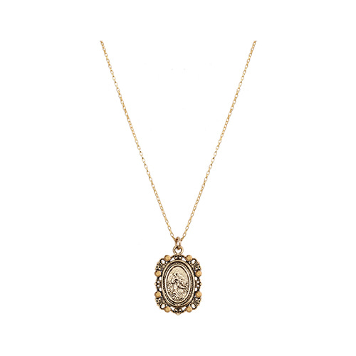 Byzantine Coin Pendant Necklace [Gold]