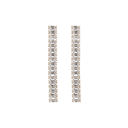 Square Crystal Line Stone Earrings