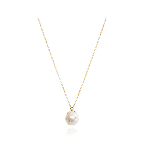 Gold Dot Natural Pearl Necklace