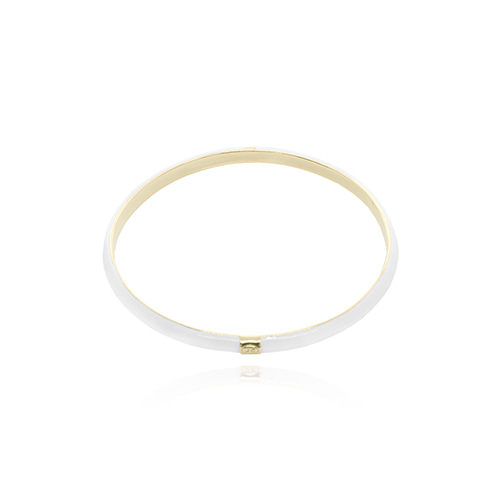 White Glossy Color Bangle