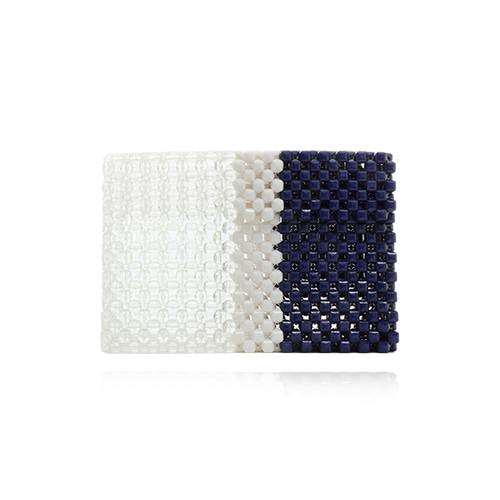 Multi Color Beads Clutch Bag