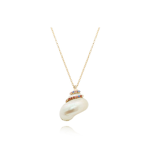 Natural White Conch Necklace