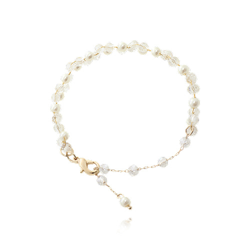 Crystal With Mini Pearl Bracelet