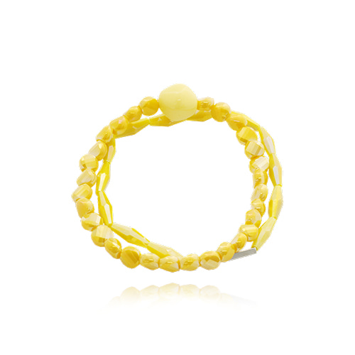 Yellow  Candy Line Stone Bracelet
