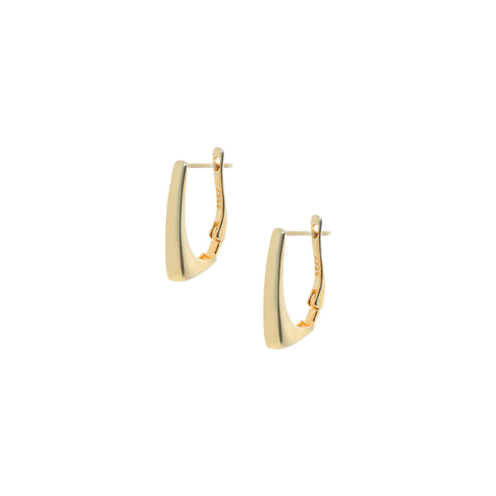 Gold One Touch 92.5 Silver Earrings