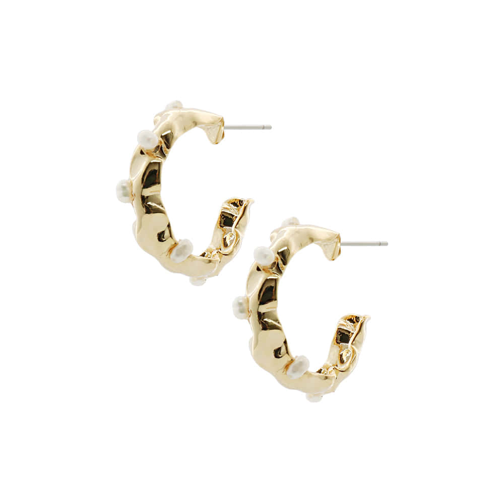 Crumple Ring Post Earrings