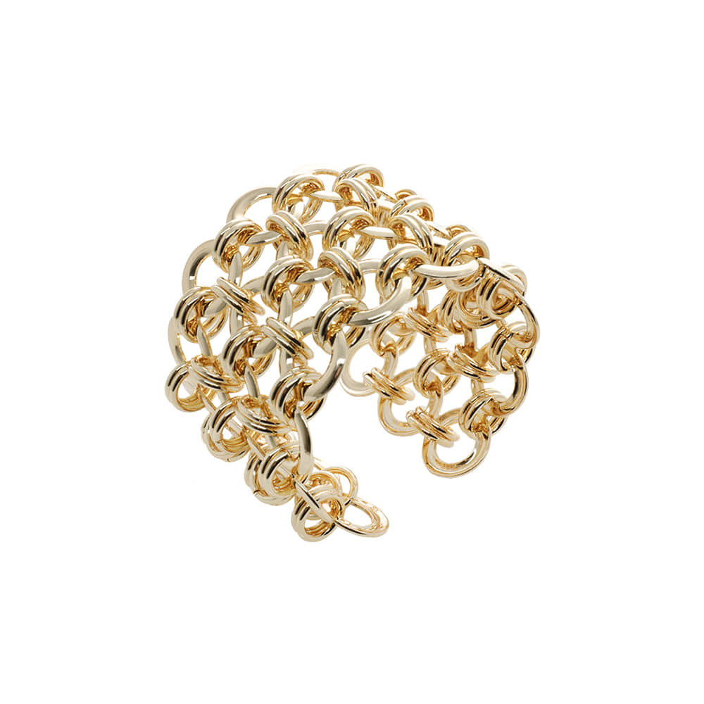 Gold Circle Chain Bangle