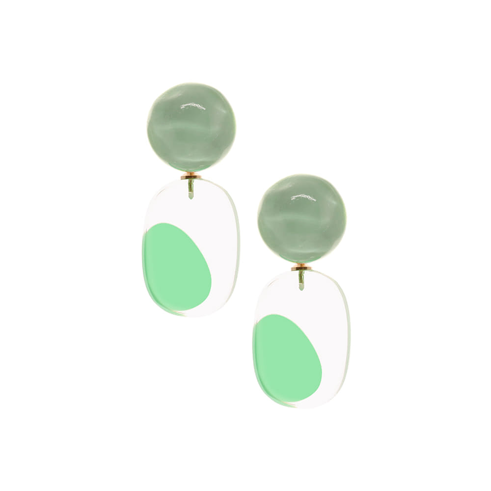 Transparent Dots Earrings