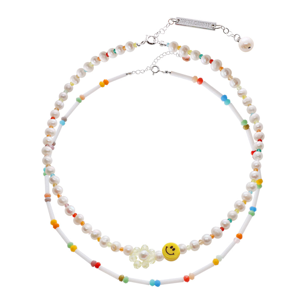 Smile Face Beads Necklace SET