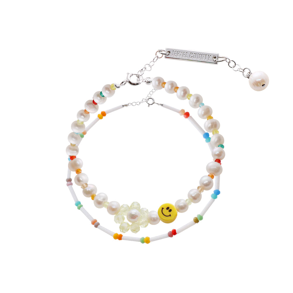 Smile Face Beads Bracelet SET