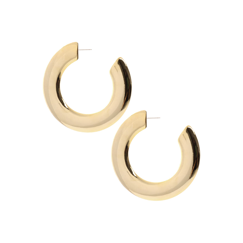 Large C Circle Earrings