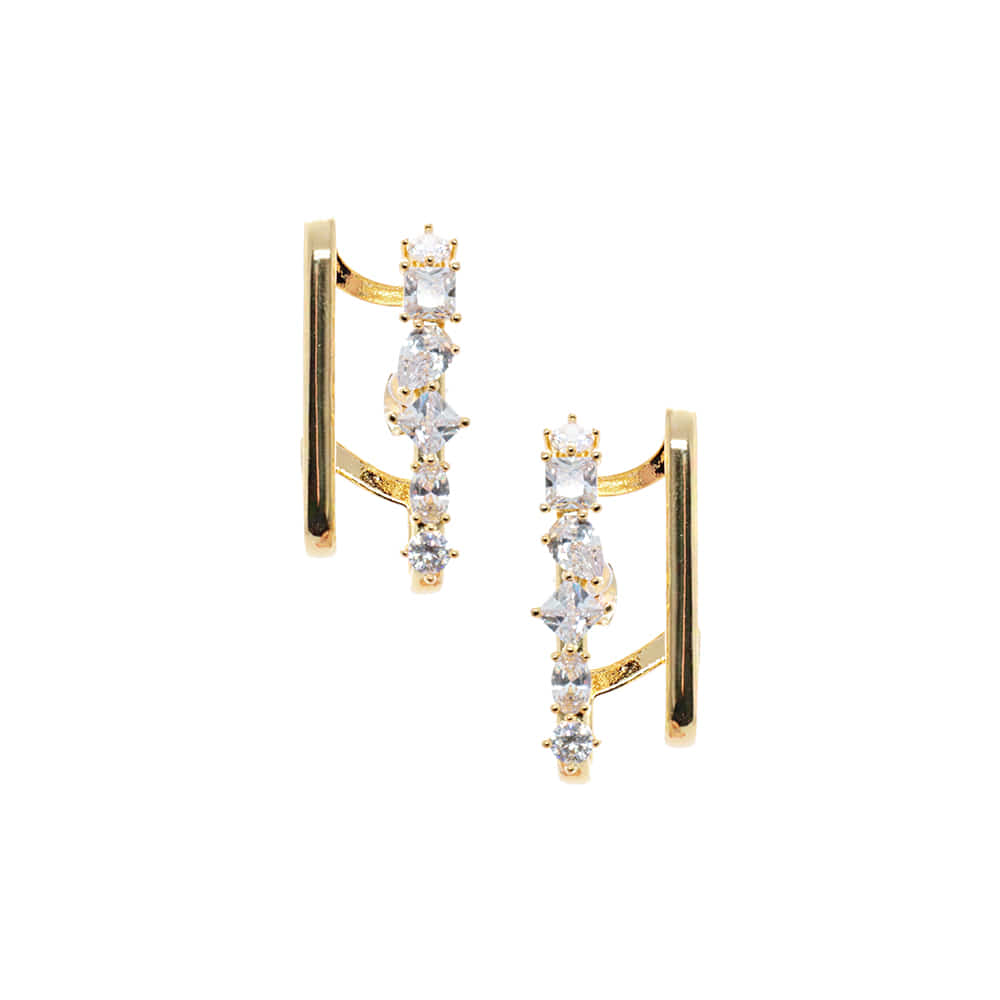 Crystal Earcuffs Type Earrings