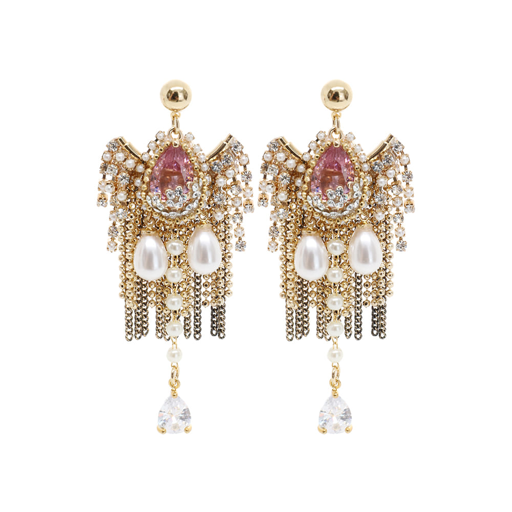 Pink Crown of Queens Earrings