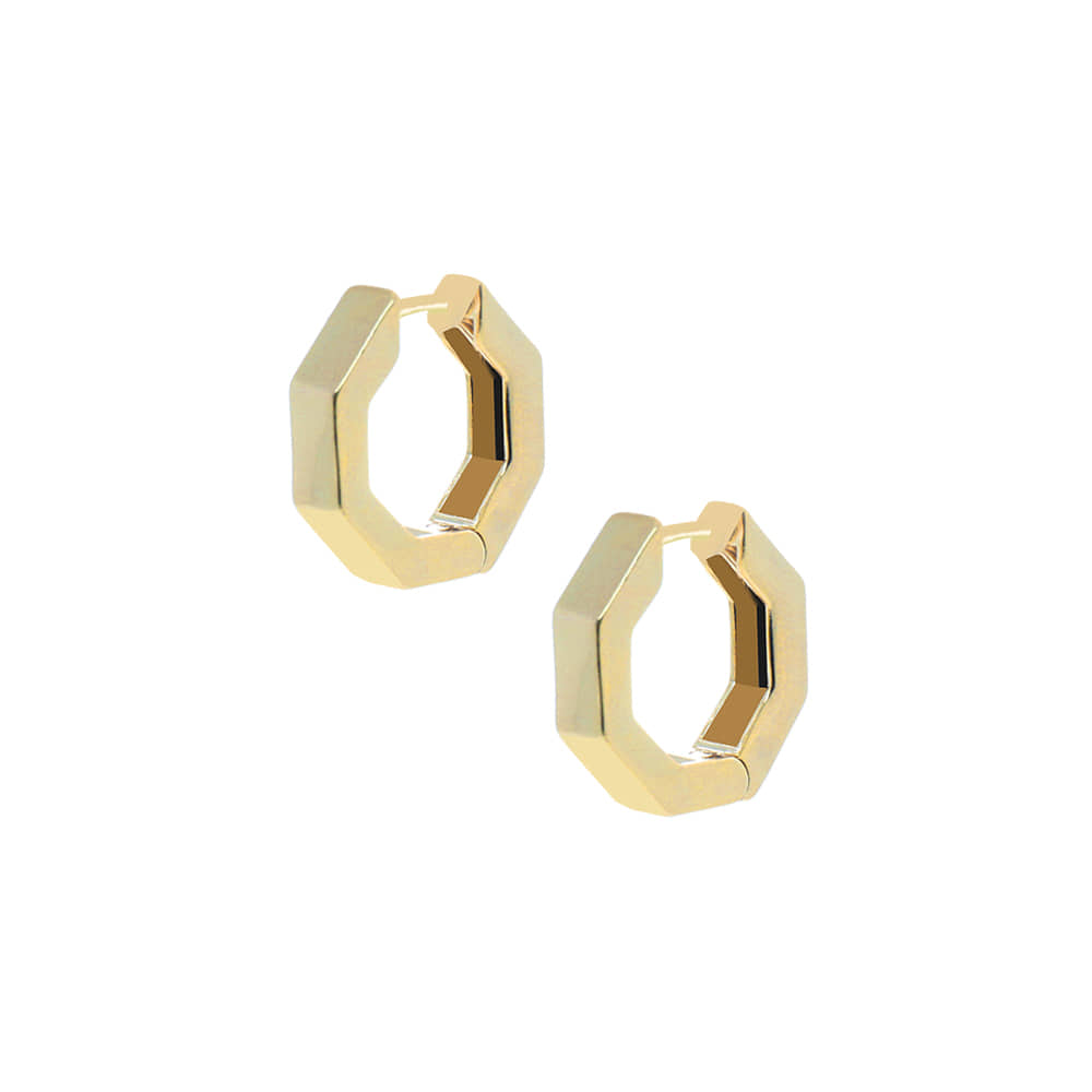 Bold Hexagon Ring Earrings
